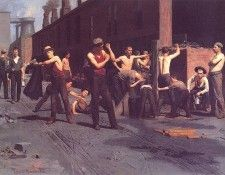 bs-ahp- Thomas Anshutz- The Ironworkers Noontime. Anshutz, Томас