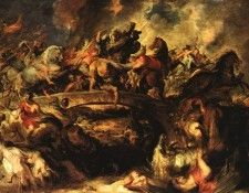 Rubens Battle of the Amazons 1618  Alte Pinakothek Munchen. Рубенс, Питер Пауль