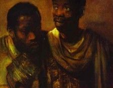 Rembrandt - Two Negroes. Рембрандт Харменс ван Рейн