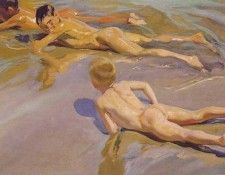Children on the Beach ATC. Sorolla Y Bastida Хоакин