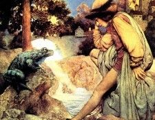 Mp 0001 The Frog Prince MaxfieldParrish sqs. Пэрриш, Maxfield