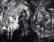 Rubens The Baptism Of Christ. Рубенс, Питер Пауль