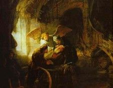 Rembrandt - Tobias Returns Sight to His Father. Рембрандт Харменс ван Рейн