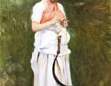 Sargent John Singer Girl with a Sickle. Сарджент, Джон Сингер