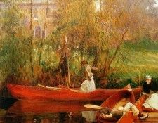 Sargent John Singer The boating party Sun. Сарджент, Джон Сингер