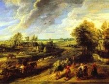 Peter Paul Rubens - Return of the Peasants from the Fields. Рубенс, Питер Пауль