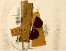 Braque Violin and Pipe  Le Quotidien, 1913, Paris Pompidou. Брак, Жорж