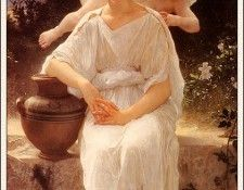 bs- Adolphe William Bouguereau- Young Love. Бугро, Адольф Вильям