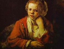 Rembrandt - Young Girl at the Window. Рембрандт Харменс ван Рейн