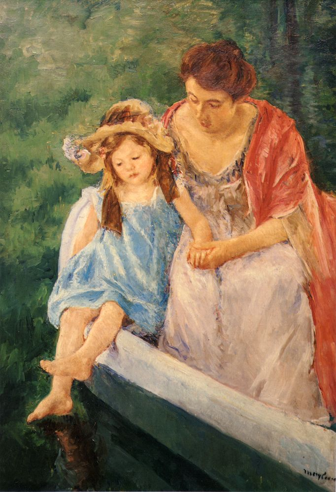 Mary cassatt mother and child bath