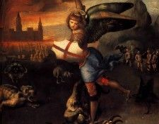 Saint Michael and the Dragon. Рафаэль