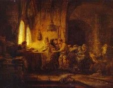 Rembrandt - The Parable of the Laborers in the Vineyard. Рембрандт Харменс ван Рейн