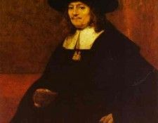 Rembrandt - Portrait of a Man in a Tall Hat. Рембрандт Харменс ван Рейн