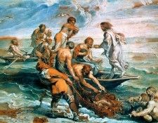 Miraculous Draught of Fishes Pen, Raphael - 1600x1200 - ID 8. Рафаэль