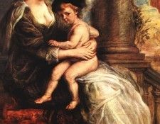 Rubens Helena Fourment with her Son Francis 1635 Alte Pinako. Рубенс, Питер Пауль