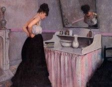 Caillebotte Gustave Woman at a Dressing Table. Кайботт, Гюстав