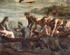 Raphael The Miraculous Draught of Fishes. Рафаэль