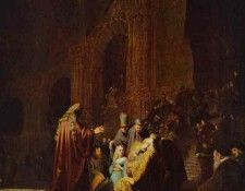 Rembrandt - The Presentation of Jesus in the Temple. Рембрандт Харменс ван Рейн