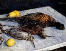 Caillebotte Gustave Game Birds And Lemons. Кайботт, Гюстав