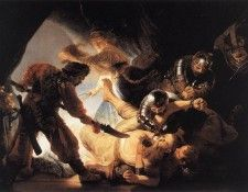 Rembrandt - The Blinding of Samson. Рембрандт Харменс ван Рейн