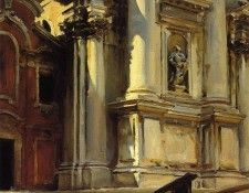 Sargent John Singer Corner of the Church of St. Stae Venice. Сарджент, Джон Сингер