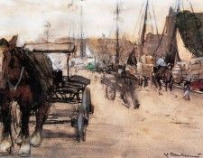 Arntzenius Floris At The Harbour Sun. Arntzenius, Флорис