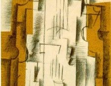 Braque Still life with a violin, 1912, Yale University Art G. Брак, Жорж