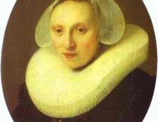 Rembrandt - Cornelia Pronck, Wife of Albert Cuyper. Рембрандт Харменс ван Рейн