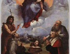 Raphael The Madonna of Foligno. Рафаэль