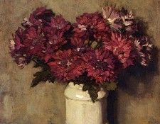 Akkeringa Johannes Evert Chrysanthemums In A Vase. Akkeringa, Йоханнес Эверт