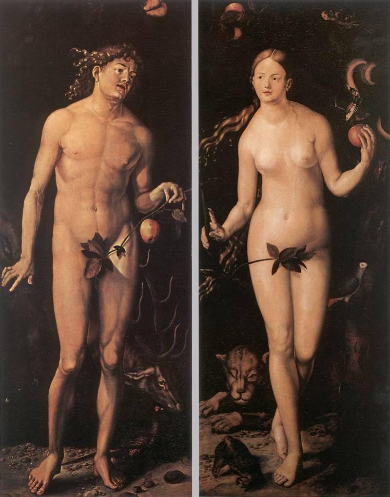 Albrecht Durer (Альбрехт Дюрер) Адам и Ева.
