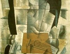 Braque Woman with a Guitar, 1913, Paris Pompidou. Брак, Жорж