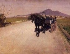 Caillebotte Gustave A Road Near Naples. Кайботт, Гюстав