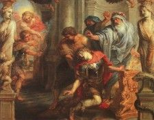Rubens The Death of Achilles, oil on panel, Courtauld Instit. Рубенс, Питер Пауль