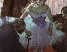 Degas Before the Entrance on Stage, 1880 c.. Дега, Эдгар-Жермен-Илер