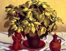 M Bidniak - White Poinsetta (mouthpainted), De. Bidniak, M
