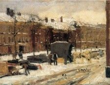 Arntzenius Floris City View In The Snow Sun. Arntzenius, Флорис