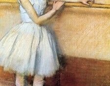 Degas Edgar Dancer at the Barre (Edgar Degas circa 1880). Дега, Эдгар-Жермен-Илер