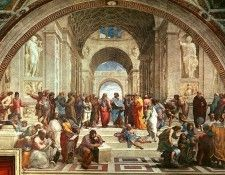 The School of Athens, Raphael, 1509-11 - 1600x1200 - ID 8092. Рафаэль