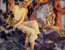 Girl with Elves. Пэрриш, Maxfield