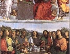 Raphael The Crowning of the Virgin (Oddi altar). Рафаэль