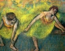 Two Dancers at Rest, Degas - 1600x1200 - ID 7555 - PREMIUM. Дега, Эдгар-Жермен-Илер