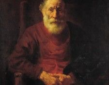 Rembrandt Portrait of an Old Man in Red, Circa 1652-54(1651 . Рембрандт Харменс ван Рейн