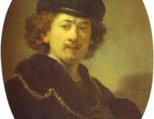 Rembrandt - Self-Portrait with a Gold Chain. Рембрандт Харменс ван Рейн