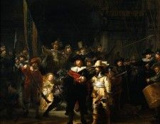 The Company of Frans Banning Cocq and Willem van Ruytenburch known as the -Night Watch- (Рембрандт - Ночной дозор). Рембрандт Харменс ван Рейн