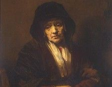 Rembrandt Portrait of an Old Woman, 1654, 109x84 cm, Eremita. Рембрандт Харменс ван Рейн