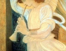 An0003 Angel SirEdwardBurne-Jones sqs. Берн-Джонса сэра Эдварда Коли