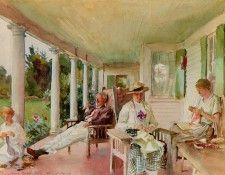 Sargent John Singer On the Verandah (Ironbound Island Maine). Сарджент, Джон Сингер