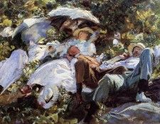Sargent John Singer Group with Parasols (A Siesta). Сарджент, Джон Сингер