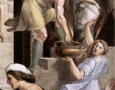 Raphael The Fire in the Borgo detail2. Рафаэль